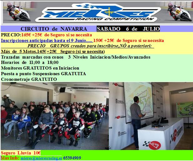 Proximas rodadas y cursos MIERES RACING,Mayo,Junio,Julio  NAVARRA-6-JULIO
