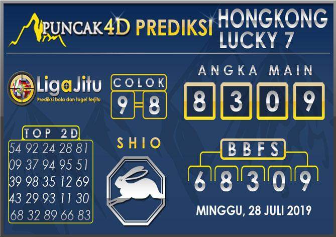 PREDIKSI TOGEL HONGKONG LUCKY7 PUNCAK4D 28 JULI 2019