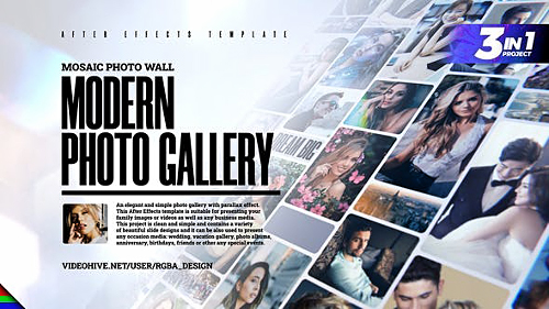 Mosaic Photo Gallery 26539439 - Project for After Effects (Videohive)