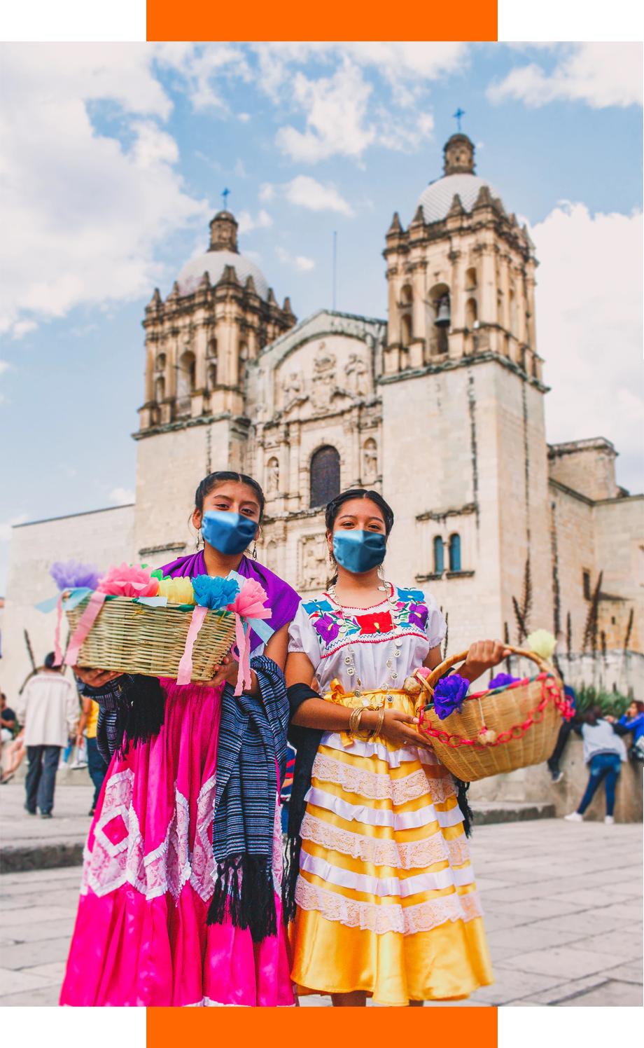 Niñas en Oaxaca ya es posible viajar seguro durante la pandemia