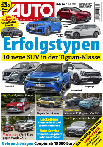 Cover: Auto Strassenverkehr Magazin No 16 vom 07  Juli 2021