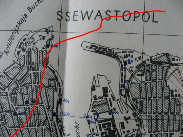 Original-Heereskarte-Krim-Sewastopol-Minenfelder-Stellungen-usw-Jan1944-57