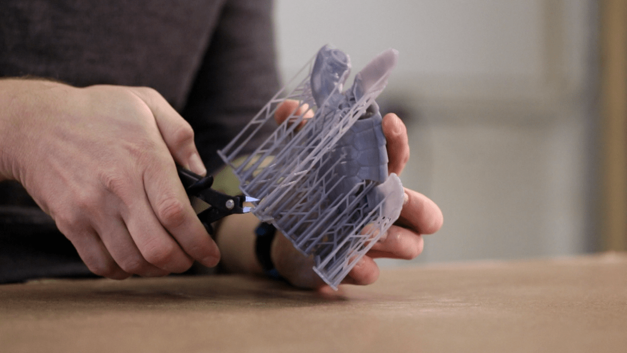 Removing 3D print support material by tools