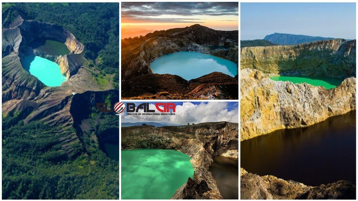 FOTO: Vulkan i tri kraterska jezera koja mijenjaju boje
