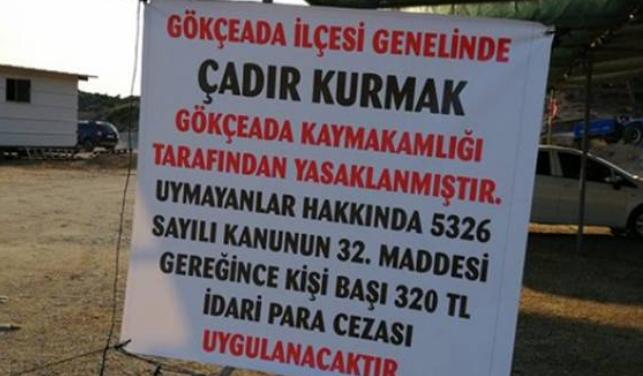 Gökçeada'da kamp yasağı başladı iddiası