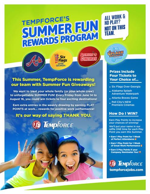 TempForce Summer Fun Rewards Program