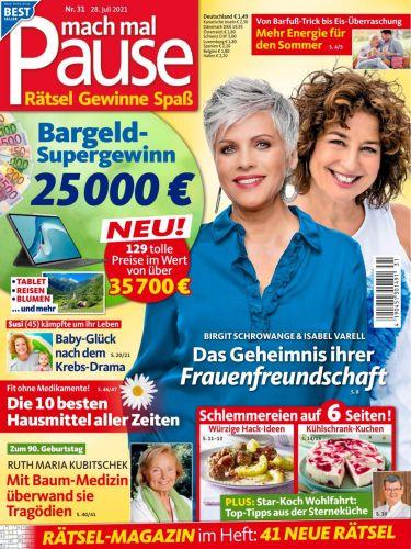 Cover: Mach mal Pause Rätselmagazin No 31 vom 28  Juli 2021