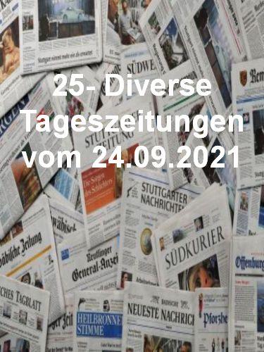 Cover: 25- Diverse Tageszeitungen vom 24  September 2021