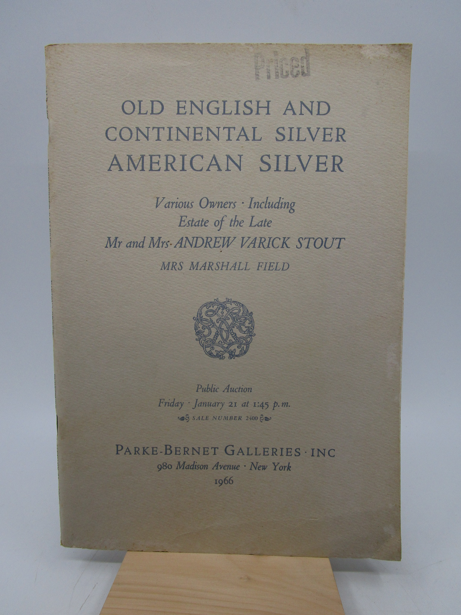 Image for Old English and Continental Silver...estate of Mr. and Mrs, Andrew Varick Stout