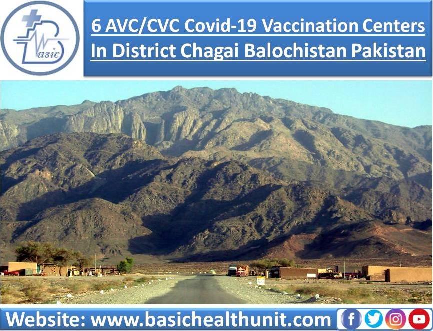 6 AVC/CVC Covid-19 Vaccination Centers In District Chagai Balochistan Pakistan