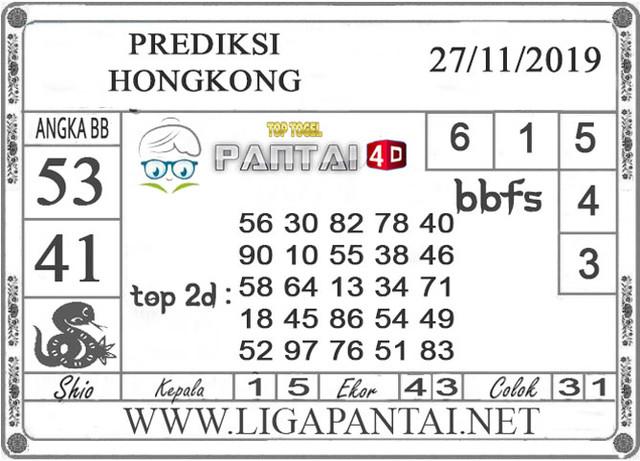 PREDIKSI TOGEL HONGKONG PANTAI4D 27 NOVEMBER 2019