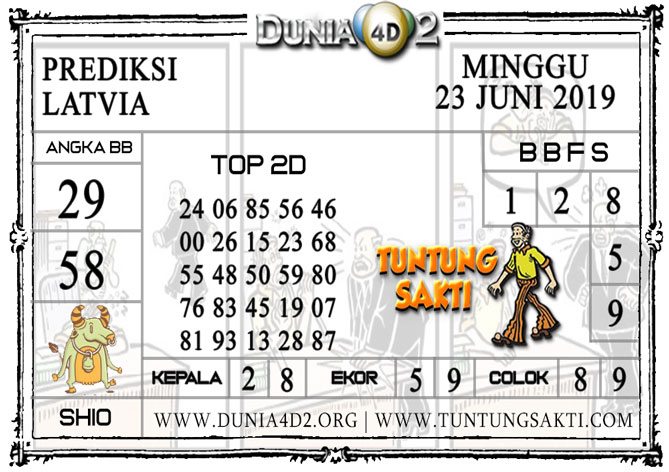 """Prediksi Togel """"LATVIA"""" DUNIA4D2 23 JUNI 2019"""
