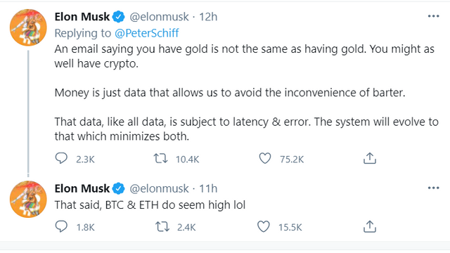 Elon Musk Explains to Peter Schiff What Money Is