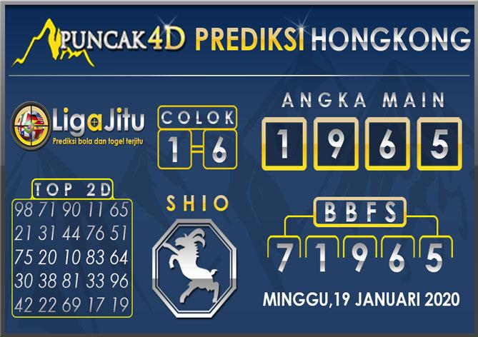 PREDIKSI TOGEL HONGKONG PUNCAK4D 19 JANUARI 2020