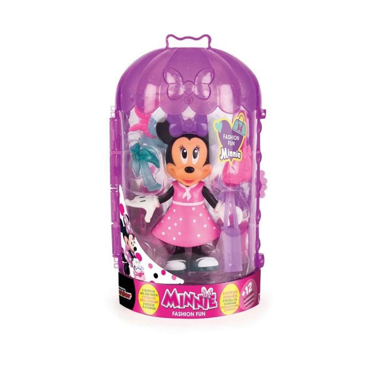 დისნეი Minnie Mouse-ის Fashion Dolls ფიგურა აქსესუარებით IMC TOYS 69175