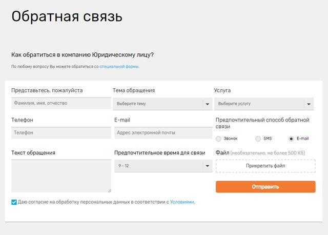 Пример поддержки пользователя
