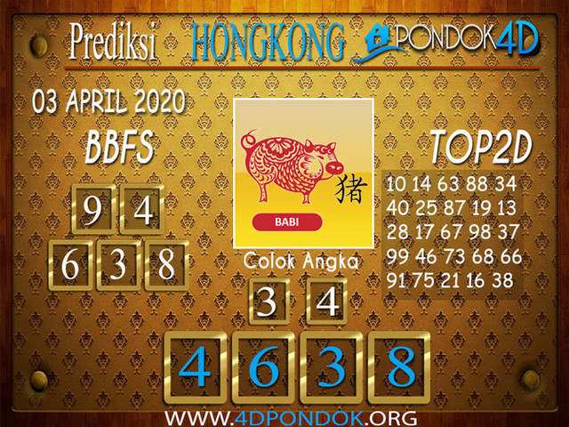 Prediksi Togel HONGKONG PONDOK4D 03 APRIL 2020
