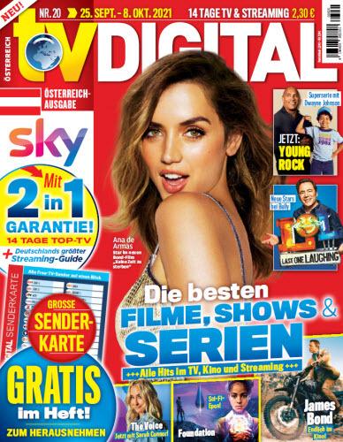 Cover: Tv digital Xxl Fernsehzeitschrift No 20 vom 25  September 2021