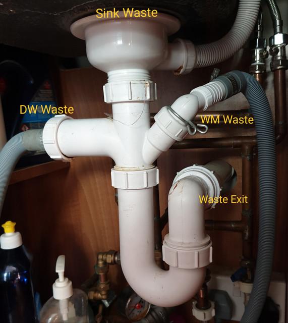 Kitchen Sink Gurgles When Washing Machine Drains Diynot Forums