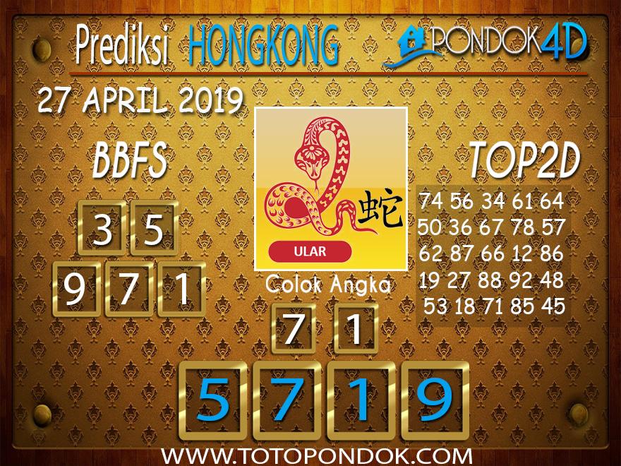 Prediksi Togel HONGKONG PONDOK4D 27 APRIL 2019