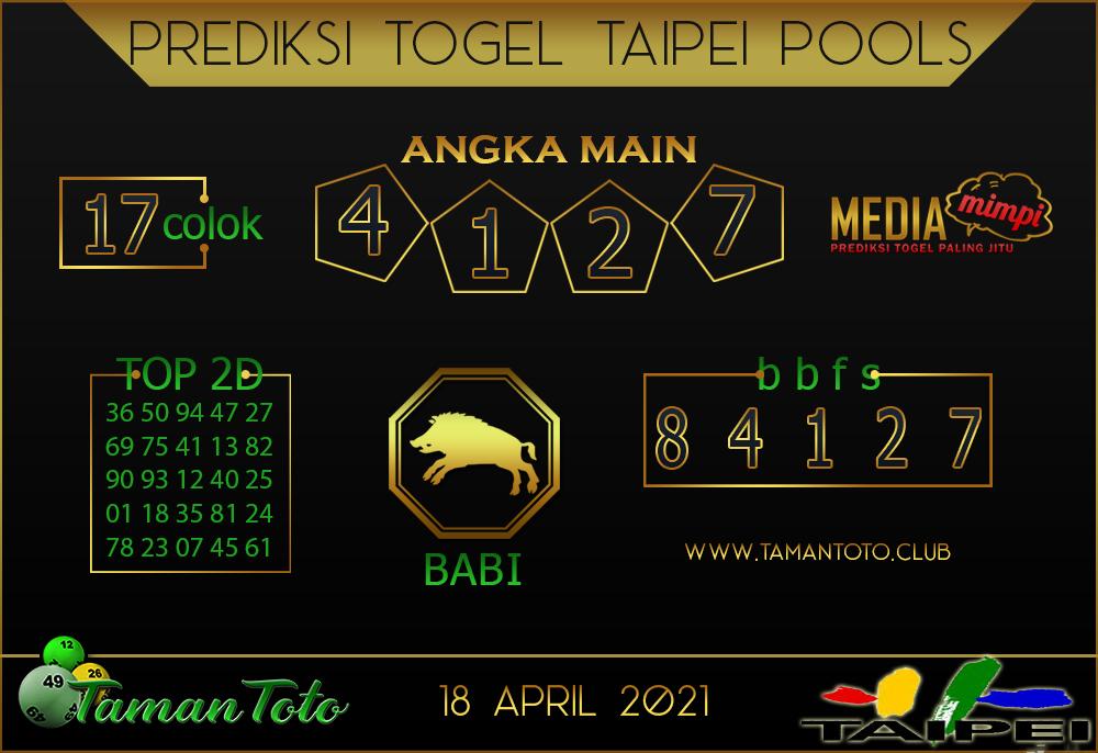 Prediksi Togel TAIPEI TAMAN TOTO 18 APRIL 2021
