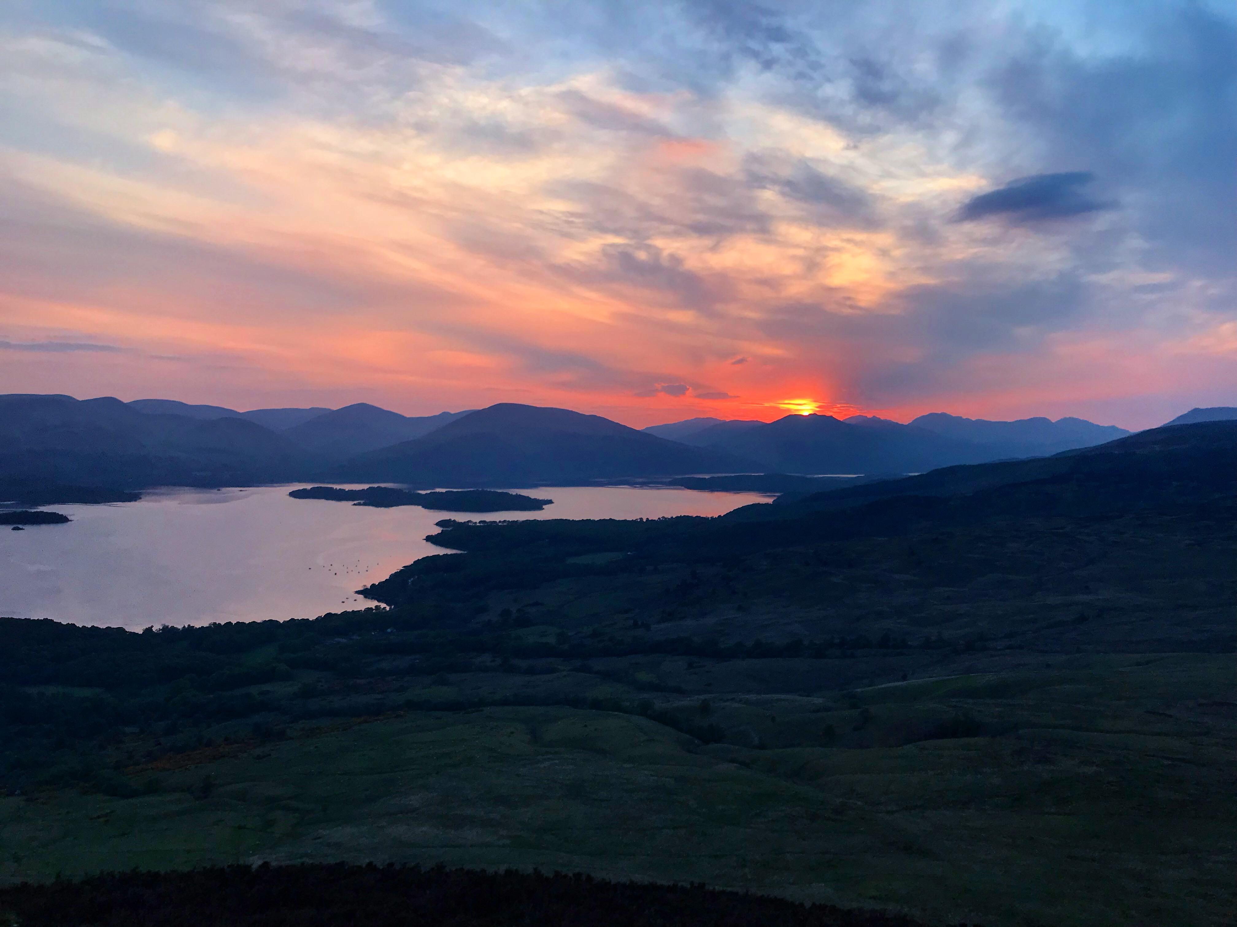 Loch Lomond at sunset