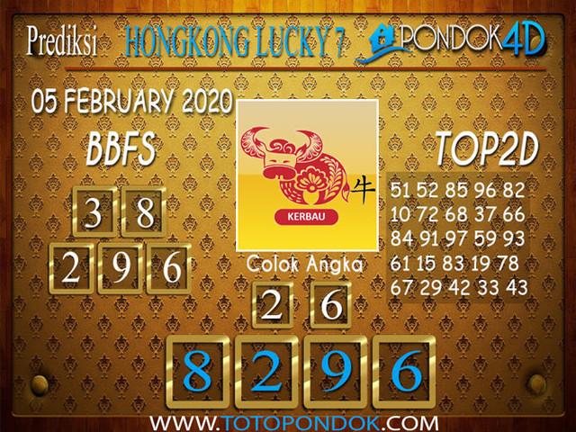 Prediksi Togel HONGKONG LUCKY7 PONDOK4D 05 FEBRUARY 2020