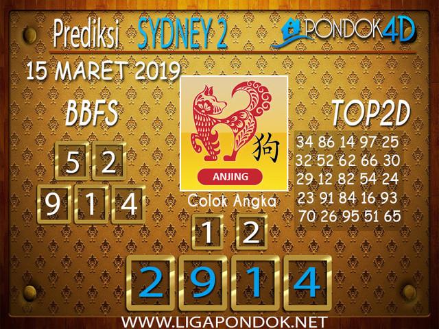 Prediksi Togel  SYDNEY 2 PONDOK4D 15 MARET 2019