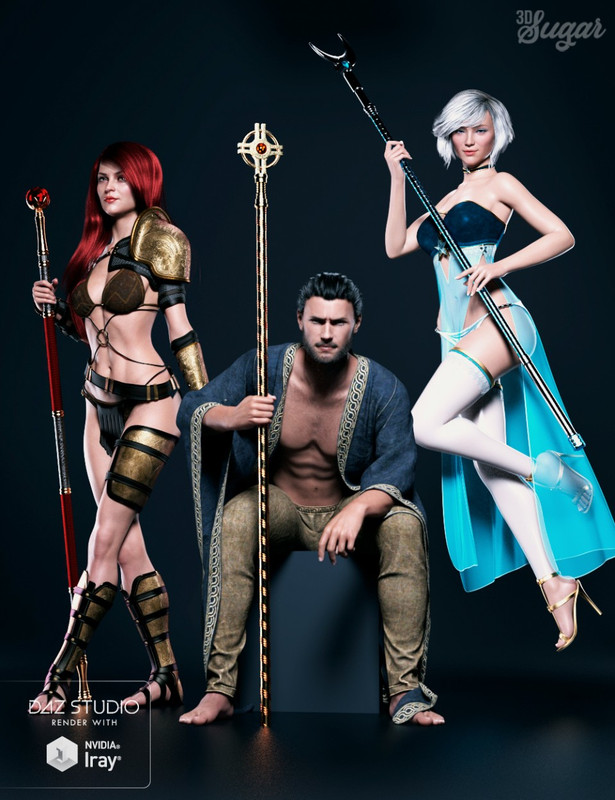 Scepter Power Props and Poses for