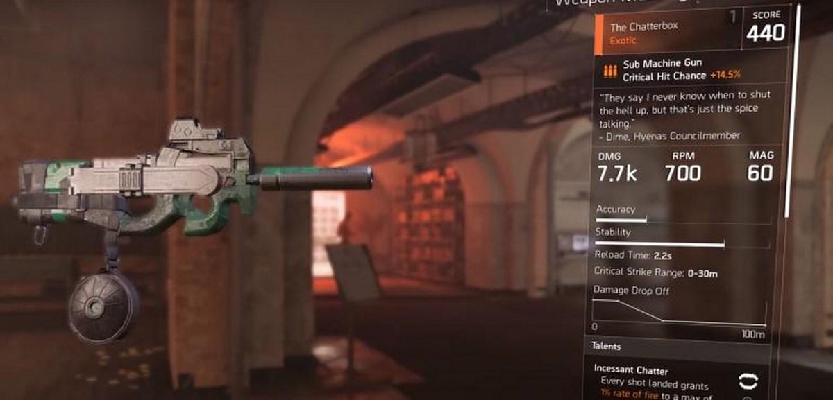 The Division 2 - как получить оружие Chatterbox?