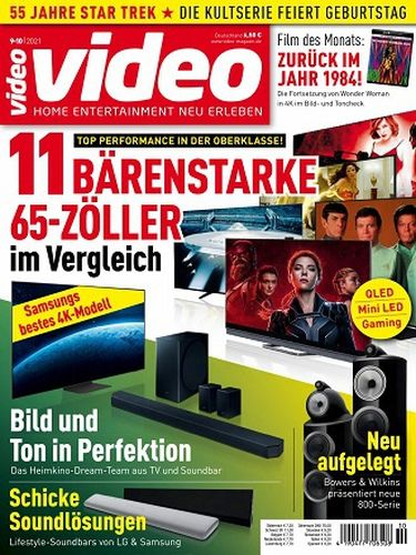 Cover: Video Homevision Magazin September-Oktober No 09 10 2021