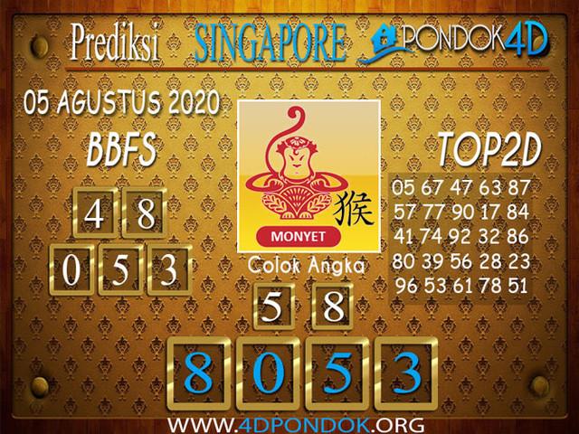 Prediksi Togel SINGAPORE PONDOK4D 05 AGUSTUS 2020