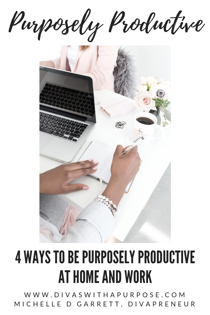 Are you being purposely productive with your time and actions? This article shares four simple ways to ensure you're not just busy but moving forward with your goals. #productivity #biztips #worklifebalance