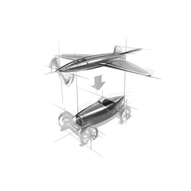 Les risque-tout chez Bugatti – entre l'avion et la voiture de course  12-fuselage-p100-t35-rendering