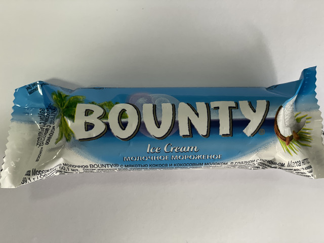 """ნაყინის ბატონი """"BOUNTY"""" (39,1გრ"""