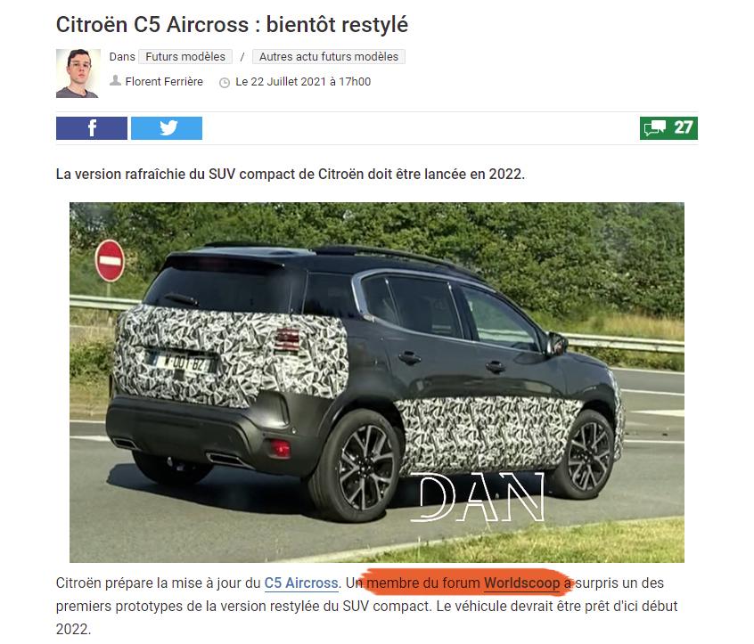 2022 - [Citroën] C5 Aircross restylé  Sans-titre-1