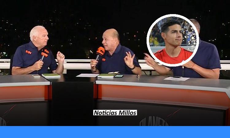 Periodistas de Win Sports: James Rodríguez es un jugador retirado