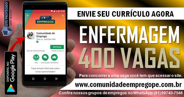 TÉCNICO DE ENFERMAGEM, 400 VAGAS COM SALÁRIO DE PARA HOSPITAL NO RECIFE