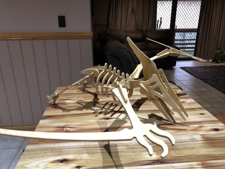 Pterodactyl 3D metal art sculpture 4