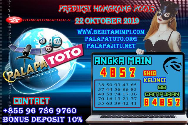 PREDIKSI TOGEL HONGKONG PALAPATOTO 22 OKTOBER 2019