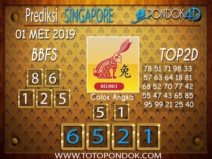 Prediksi Togel SINGAPORE PONDOK4D 01 MEI 2019
