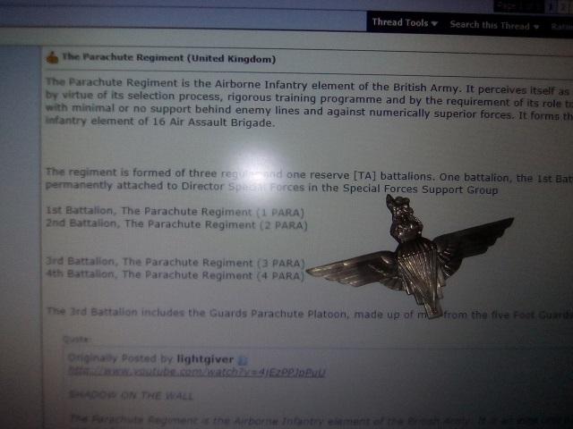 The Parachute Regiment (United Kingdom) - Page 5 - David