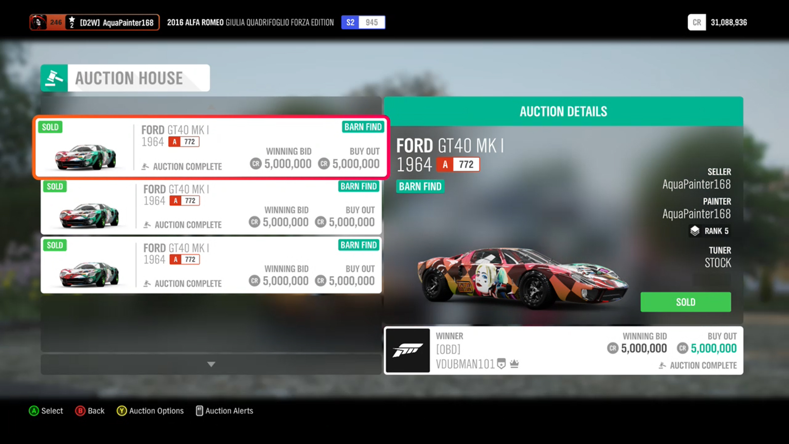 For those saying you can't make money in the auction - Forza