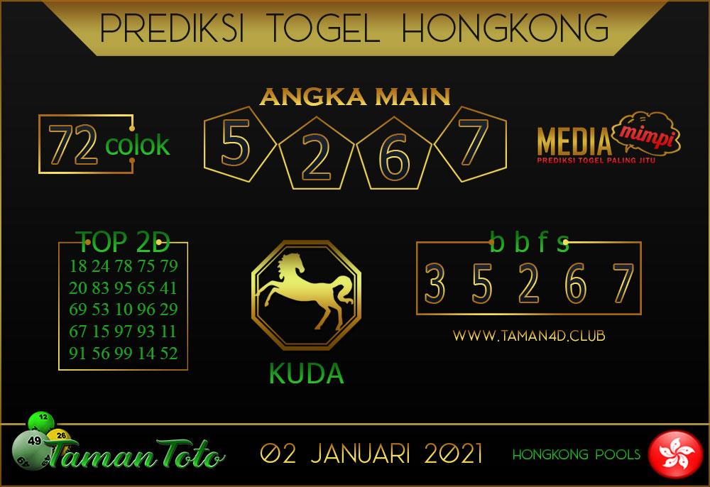 Prediksi Togel HONGKONG TAMAN TOTO 02 JANUARI  2021