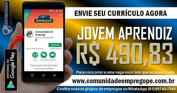 JOVEM APRENDIZ COM BOLSA DE R$ 490,83 PARA EMPRESA AMBIENTAL