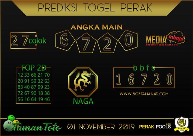 Prediksi Togel PERAK TAMAN TOTO 01 NOVEMBER 2019