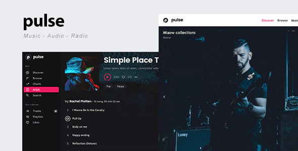 ThemeForest - pulse v2.2.1 - Music, Audio, Radio WordPress Theme - 19358958