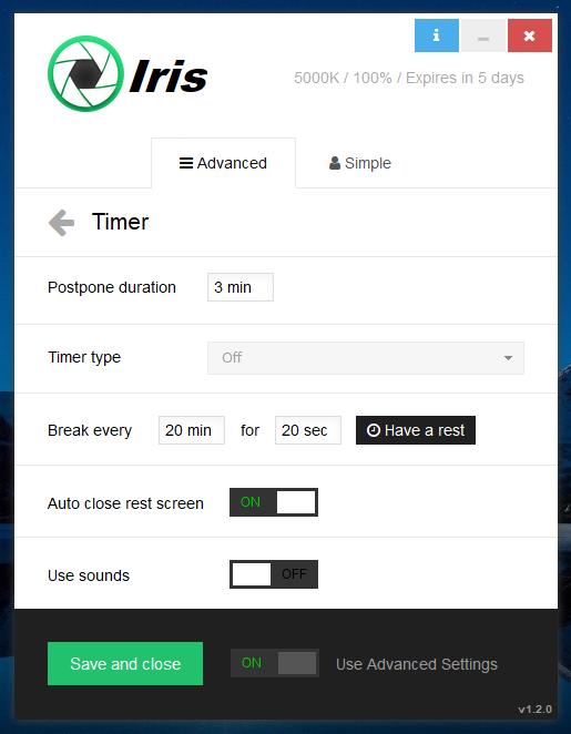 إحمي عينيك من مختلف أنواع أشعة الحاسوب الضارة مع البرنامج الرائع Iris pro 3