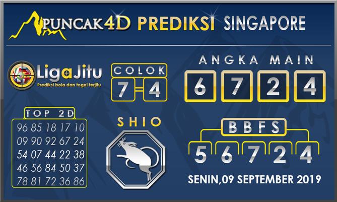 PREDIKSI TOGEL SINGAPORE PUNCAK4D09 SEPTEMBER 2019