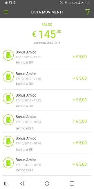 Bill SisalPay Bill (App italiana di SisalPay) €5,00 subito + €5,00 se invitato + €5,00 ogni invito [scadenza 30/09/2020] - Pagina 3 2019-10-30-2bill